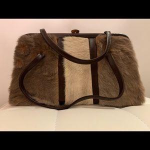 *rare* vintage evening fur bag - kangaroo